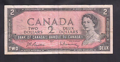 1954 Canada 2 Dollars Bank Note No Serial Number