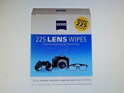 Zeiss Pre-Moistened Lens Cloths Wipes 225 Ct, Glasses Camera Phone Cleaning