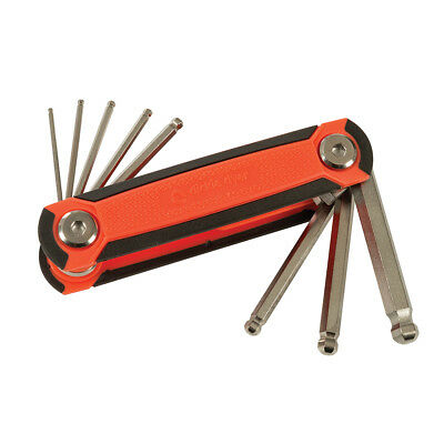 Folding Hex Wrench Set 8pc 1.5-8mm Ball End - 18.336 Allen Key 1.5-8mm Hand Tool