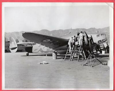 1939 RAF Lockheed Hudson Bomber Burbank Lockheed Plant 7x9 Original News Photo
