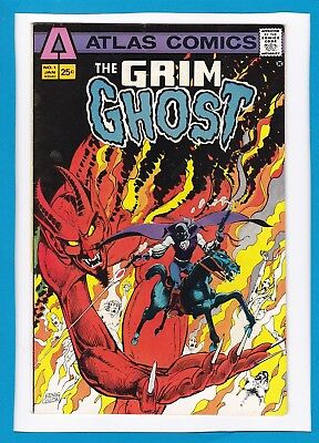 The Grim Ghost #1_January 1975_Very Fine+_Premiere Issue_Bronze Age Atlas!