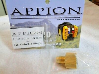Appion, Parts, Inlet Filter Fitting Part# KTF612, Includes O-Ring & One Screen