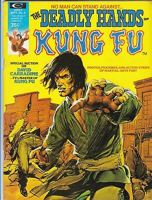 The Deadly Hands Of Kung Fu #4_Sept 1974_F/vf_Neal Adams Kung Fu Painted Cover!