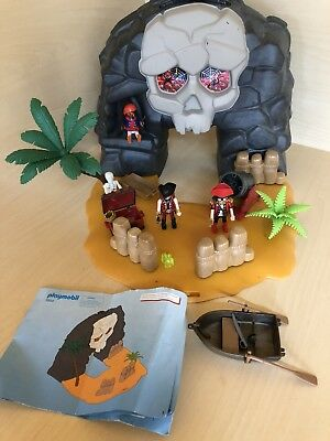 Playmobil Pirate Skull Island Carry Case 4443 plus Bundle Great Used Condition