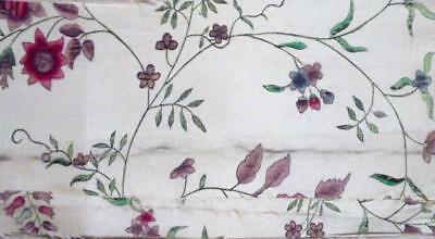 EXQUISITE RARE 18th CENTURY PAINTED PENCILLED PAINTED CHINESE SILK c1740