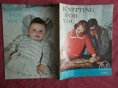 P & B Knitting For You Pattern Book From 1962