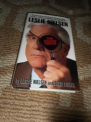 Leslie Nielsen Signed Book TO MICHAEL MIKE Naked Truth Celebrity Autograph WWE