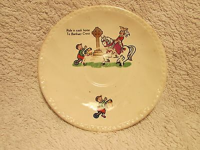 """Vintage/collectable - China Saucer -""""ride A Cock Horse To Bambury Cross"""""""