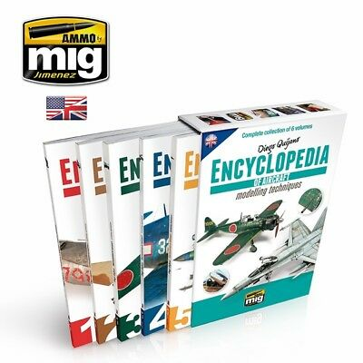Ammo Mig Encyclopedia Of Aircraft Modelling Techniques 1-5 Complete Book Set