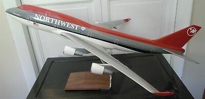 Pac Min Northwest 747 Cargo Resin Large Model Airplane With Base Scale 1/100