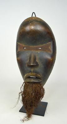 Dan African mask with Red Eyes and beard, African Art