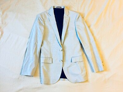 J Crew Ludlow Cotton Blazer 36R Mens gray summer casual suit jacket