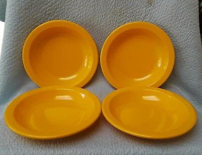 "4 Dallas Ware Melamine 7 3/8"" Yellow Bowls B-75*"