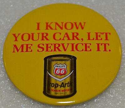 Phillips 66 New Old Stock NOS Vintage 1970's Pin Back Button Trop Artic Oil