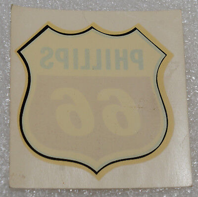 Phillips 66 New Old Stock NOS Vintage Water Transfer Decal 1970's Shield