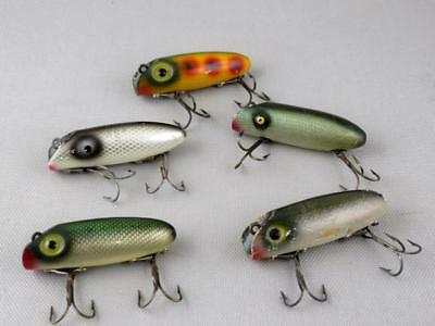 Vintage Antique Tackle Lot Of South Bend Midg-Oreno Old Wood Bass Fishing Lures