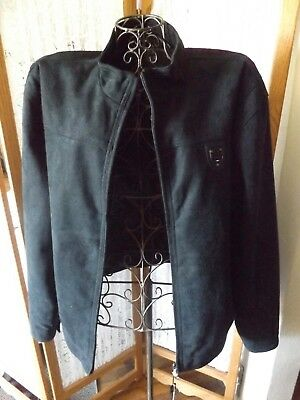 Womans Size Xxl Navy Blue Suede Jacket~Zip Front~From Ea Collection, Italy Style