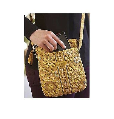 Golden Fields Sisters Cross Body Quilted Purse Longaberger New