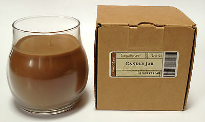 Candle Jar Gingerbread 13 ounce oz Burn time 70 Hours NEW Longaberger