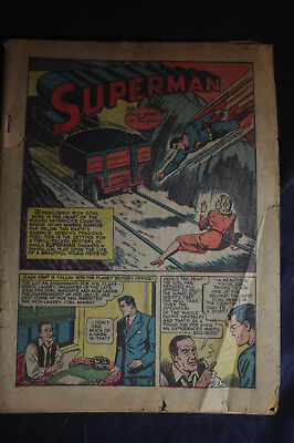 1941 #34 Action Comics *SUPERMAN*BLACK PIRATE*MR AMERICA*CLIP CARSON*