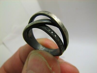 INTERESING VERY NICE VINTAGE STERLING SILVER RING with STONE  #5788