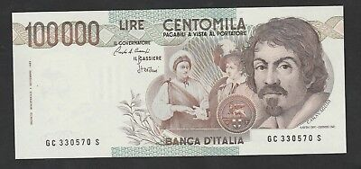 100000 Lire From Italy 1983 Unc