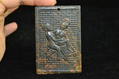 Old Collectible Vintage Chinese culture Jade carve love sex rare pendant Statue