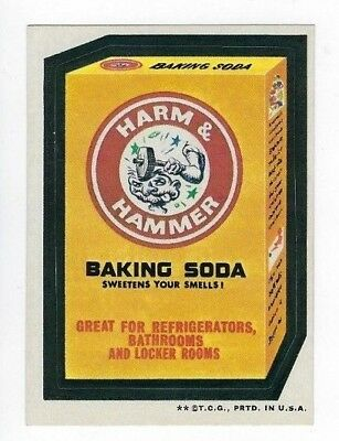 1973 Topps Wacky Packages 3rd Series 3 HARM & HAMMER BAKING SODA tb nm- o/c