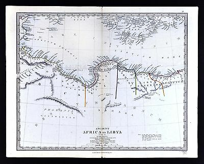 1866 SDUK Map - Ancient Libya - Tripoli Cyrenea Egypt Marmarita - North Africa