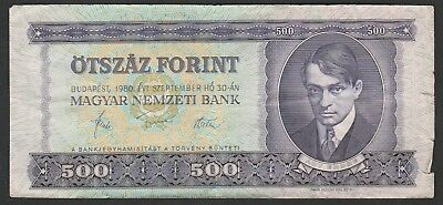 500 Forint From Hungary 1980