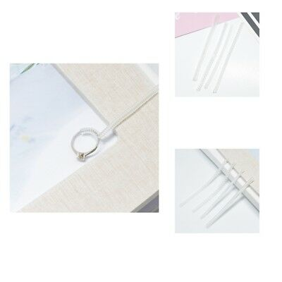 8pcs Clear Ring Size Adjuster Sizer Guard Reducer Resizing Jewelry Tools