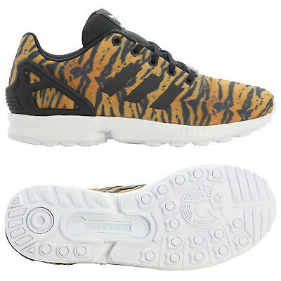 best loved f2ee5 a25f1 ADIDAS ORIGINALS KIDS ZX FLUX TRAINERS TIGER STRIPES GIRLS LADIES SHOES