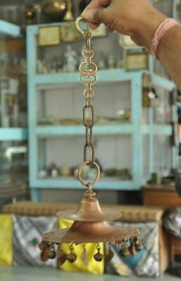 Old Copper & Brass & Iron Unique Shape Handcrafted Hanging Shadel Bell