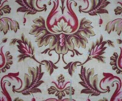 BEAUTIFUL TIMEWORN MID 19th CENTURY BLOCK PRINT FRENCH LINEN, REF PROJECTS