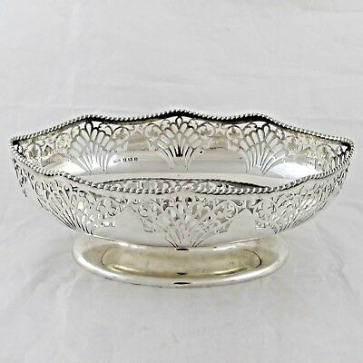 LOVELY ANTIQUE SOLID STERLING SILVER FRUIT BOWL 1911 PHILIP HANSON ABBOT 451g