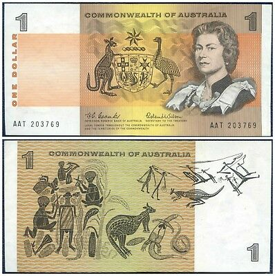 1966 COMMONWEALTH OF AUSTRALIA $1 AAT ~ Queen Elizabeth II