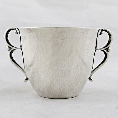 RARE GEORG JENSEN STERLING SILVER TWIN HANDLED CUP LARGER SIZE 373B 123g