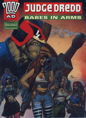 """2000AD ft JUDGE DREDD in """" BABES IN ARMS """" - GRAPHIC NOVEL - EXCELLENT CONDITION"""