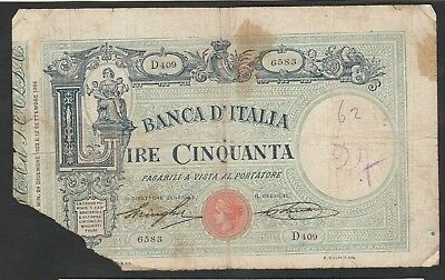 50 Lire From Italy 1925