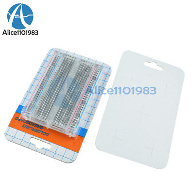 1/5/10PCS Mini Universal Clear Solderless Breadboard 400 Contacts Tie-points