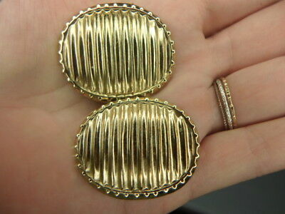 Signed Bluette gold tone shoe clips made in France