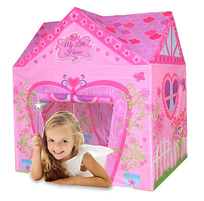 Charles Bentley My Little House Play Tent in Pink Made of Polyester