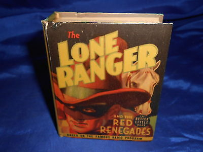 Lone Ranger & The Red Renegades Whitman #1489 Better Little Book 1939 APP FN-