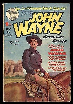 John Wayne (1949) #1 1st Print Photo Cover Superior Comics Canadian Edition VG