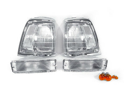 DEPO Clear Corner Lights + Bumper Signal Lights For 1992-1995 Toyota Pickup 2WD