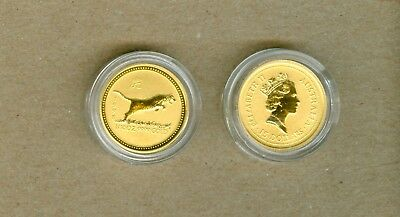 1998 Australian $15 Lunar Year Of The Tiger Gold Coin - 1/10 Oz .9999 Gold