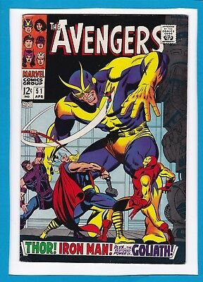 Avengers #51_April 1968_Vf Minus_Captain America_Iron Man_Thor_The Collector!