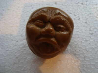 Vintage Chinese/japanese Carved Nut Face (Noh Mask?) Good Size Lovely Item