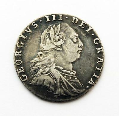 King George Iii Silver Sixpence Coin 1787