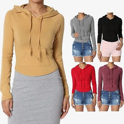 f99e2f51ced1c TheMogan Raglan Long Sleeve Hooded Crop Top Stretch Cotton Fitted Hoodie  T-Shirt